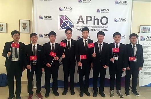 Le Vietnam remporte une medaille d'or aux Olympiades de physique d'Asie 2017 hinh anh 1