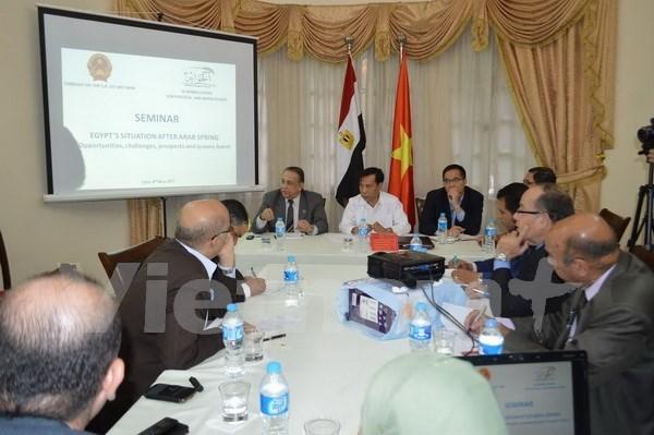 Colloque sur les opportunites, defis et perspectives de cooperation Vietnam-Egypte hinh anh 1