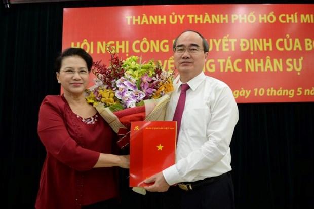 Nguyen Thien Nhan devient le secretaire du Comite du Parti pour HCM-Ville hinh anh 1