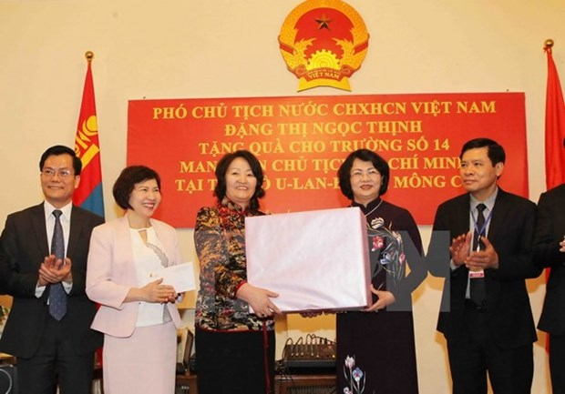 Poursuite des activites de la vice-presidente Dang Thi Ngoc Thinh en Mongolie hinh anh 1
