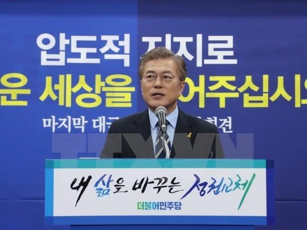 Felicitations au nouveau president sud-coreen hinh anh 1