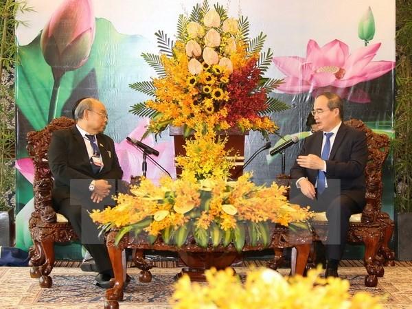Le secretaire du Comite du Parti de Ho Chi Minh-Ville recoit le president du Parlement birman hinh anh 1