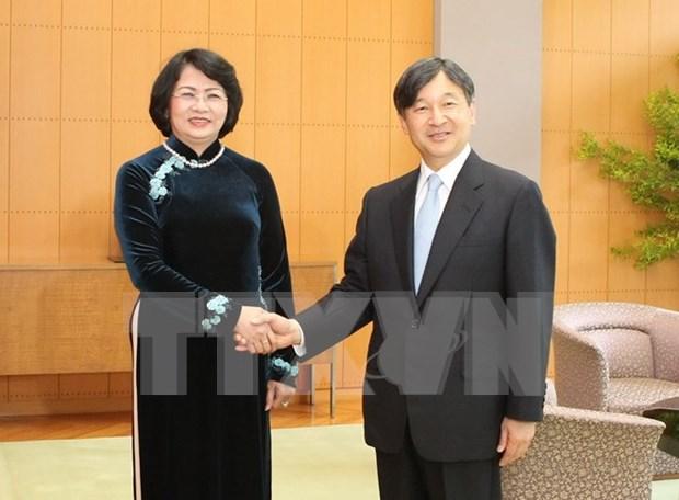 La vice-presidente du Vietnam rencontre des membres de la famille imperiale du Japon hinh anh 1
