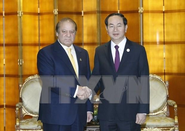 Le president rencontre les dirigeants pakistanais et japonais hinh anh 1