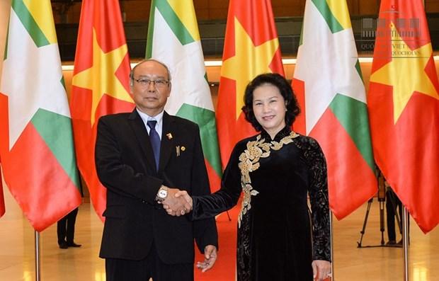 Vietnam-Myanmar : volonte commune de renforcer les liens bilateraux hinh anh 1