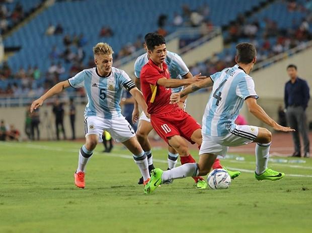 Le match amical U22 Vietnam-U20 Argentine se termine au score 0-5 hinh anh 1