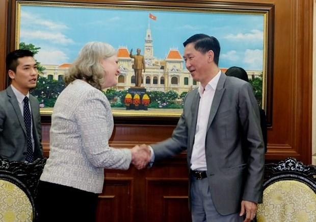 Ho Chi Minh-Ville et les Etats-Unis cooperent dans la construction d'une ville intelligente hinh anh 1