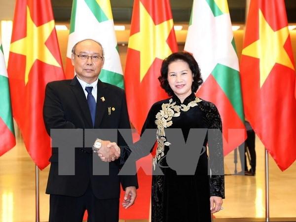 Le president du Parlement et de la Chambre haute du Myanmar acheve sa visite au Vietnam hinh anh 1