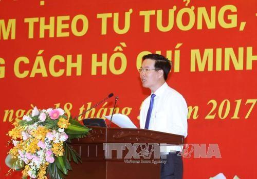 Pour que de plus en plus de personnes suivent l'exemple moral du President Ho Chi Minh hinh anh 1