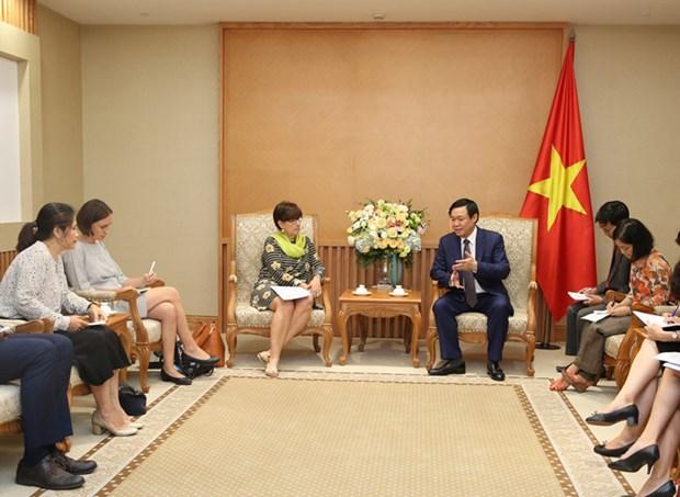 Le vice-PM Vuong Dinh Hue recoit l'ambassadrice belge hinh anh 1