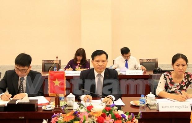 Vietnam-Laos : les deux Bureaux du CC du PCV et du PPRL cimentent leurs relations hinh anh 1