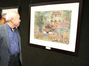 Bientot une exposition aux Etats-Unis sur la peinture sur soie vietnamienne hinh anh 1