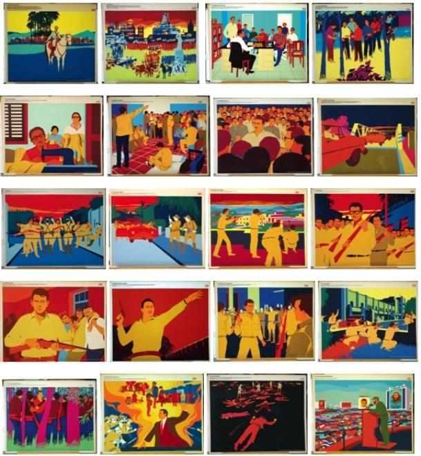 Exposition cubaine de peintures et d'affiches a Hanoi hinh anh 1