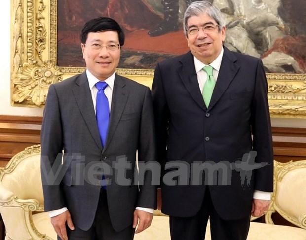 Le president de l'Assemblee de la Republique du Portugal recoit le vice-PM Pham Binh Minh hinh anh 1