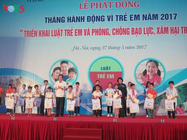 Lancement du mois d'action en faveur des enfants 2017 hinh anh 1