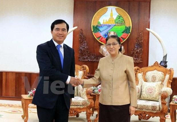 Le nouveau siege de l'AN laotienne, symbole de la solidarite speciale Vietnam-Laos hinh anh 1