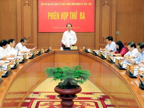 La 3e Reunion du Comite national de la reforme judiciaire hinh anh 1