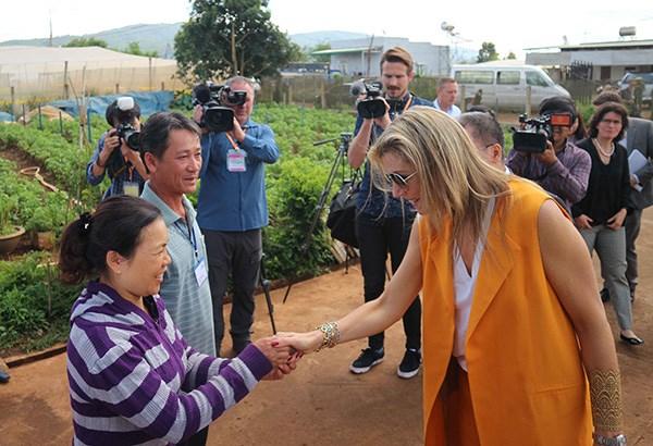 La reine des Pays-Bas se rend a Lam Dong hinh anh 1
