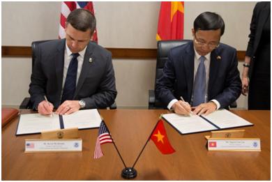 Douanes : Vietnam et Etats-Unis signent une lettre d'intention hinh anh 1