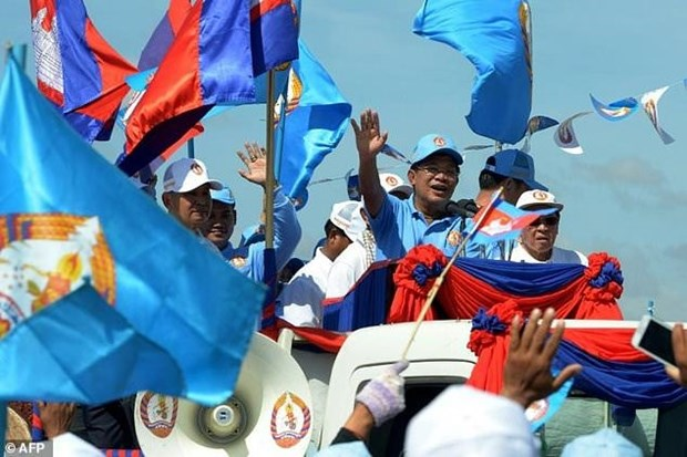 Le PM cambodgien participe a la campagne electorale du CPP hinh anh 1