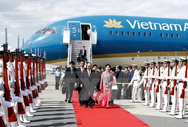 Le Premier ministre arrive a Tokyo pour une visite officielle au Japon hinh anh 1