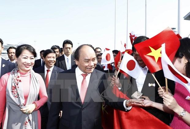 Le Premier ministre arrive a Tokyo pour une visite officielle au Japon hinh anh 2