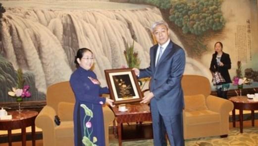 Une delegation de Ho Chi Minh-Ville en tournee de travail en Chine hinh anh 1
