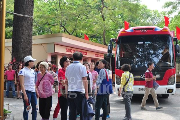 Bond du nombre de touristes etrangers a Hanoi hinh anh 1