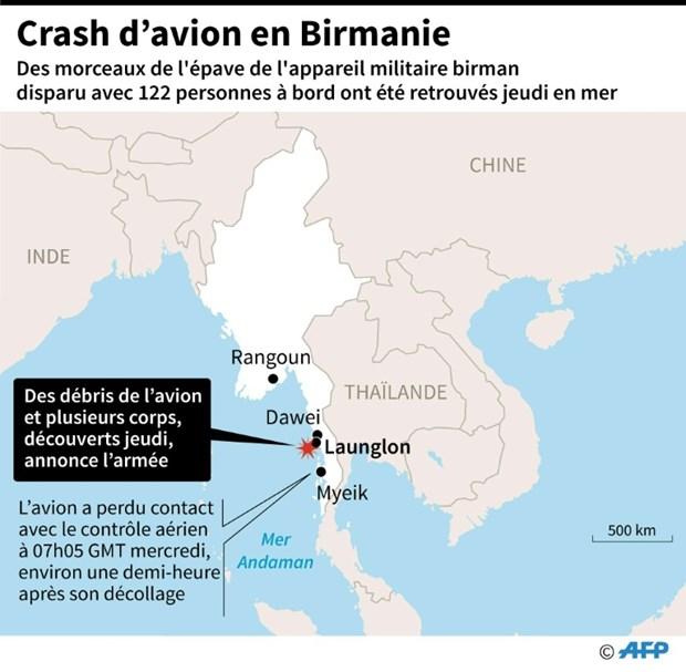 Crash d'avion au Myanmar : 29 corps repeches en mer hinh anh 1
