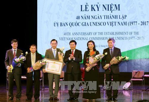 Celebration du 40e anniversaire du Comite national de l'UNESCO hinh anh 1