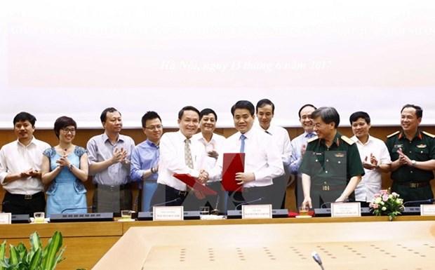 VNA et Hanoi signent un programme de coordination du travail 2017-2021 hinh anh 1