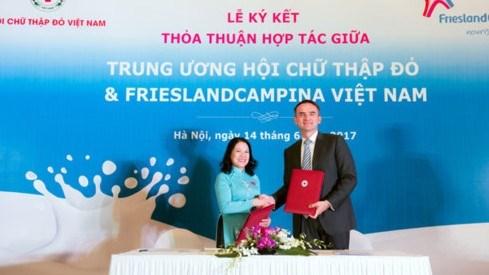 Friesland Campina soutient le Vietnam dans l'education sur l'alimentation hinh anh 1