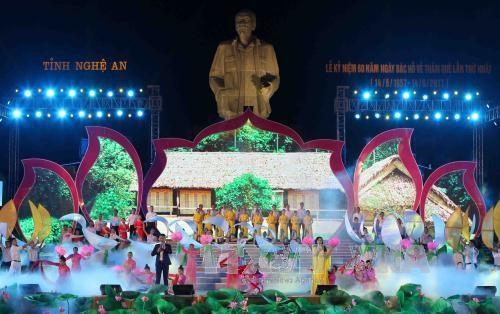 Commemoration du premier retour du President Ho Chi Minh a Nghe An hinh anh 1