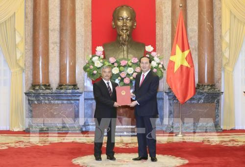 Le president Tran Dai Quang nomme 22 nouveaux ambassadeurs hinh anh 1