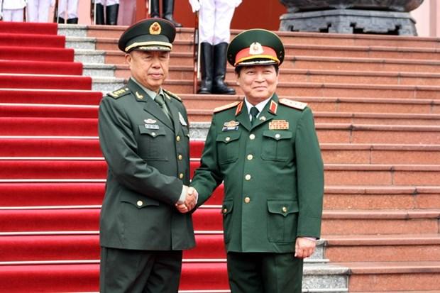 Pour le resserrement des liens entre les deux armees Vietnam-Chine hinh anh 1
