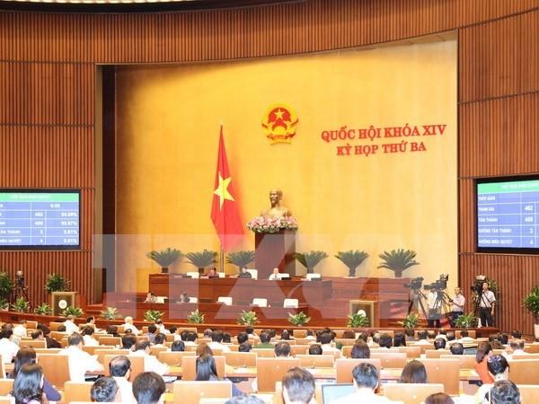 L'Assemblee nationale adopte trois projets de loi hinh anh 1