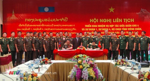 Vietnam et Laos signent un accord de cooperation frontaliere hinh anh 1