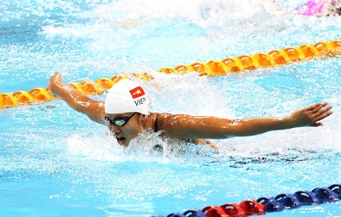 SEA Games 29 : la nageuse Nguyen Thi Anh Vien vise dix medailles d'or hinh anh 1