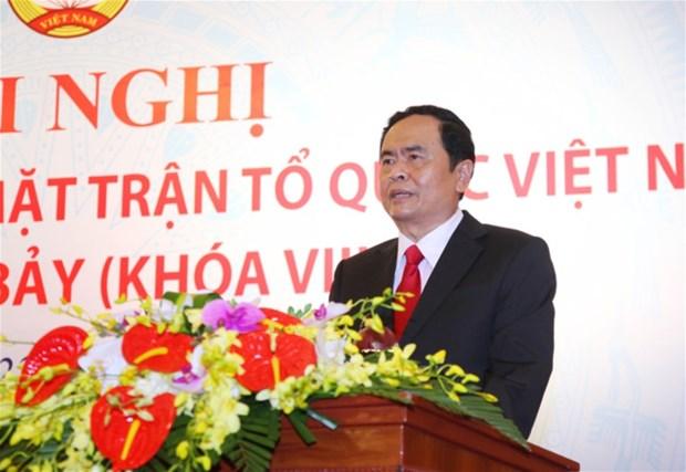 Tran Thanh Man devient president du CC du Front de la Patrie du Vietnam hinh anh 1