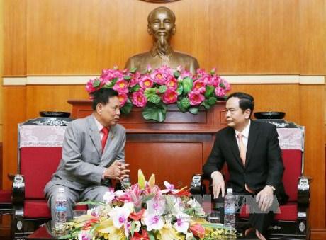 Vietnam-Cambodge : le president du FPV recoit un responsable du FSDPC hinh anh 1