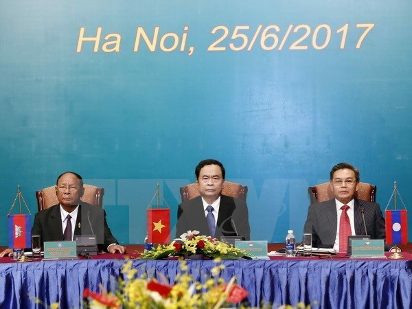 3e conference des presidents des Fronts Vietnam-Laos-Cambodge hinh anh 1