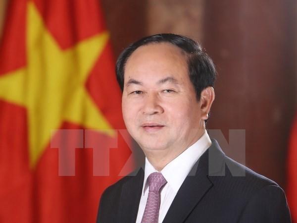 Le president Tran Dai Quang part pour la Bielorussie hinh anh 1