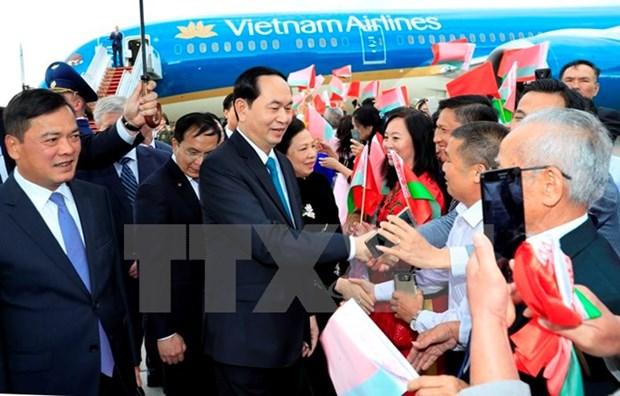 Le chef de l'Etat rencontre des amis bielorusses et des Vietnamiens en Bielorussie hinh anh 2