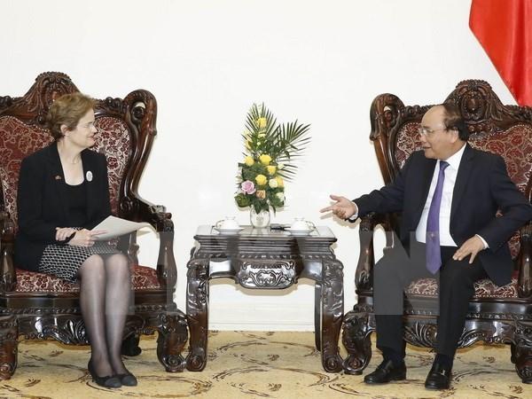 Nguyen Xuan Phuc recoit l'envoye special du PM australien hinh anh 1