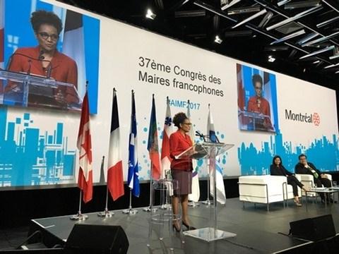 Le 37e congres des maires francophones a Montreal hinh anh 1
