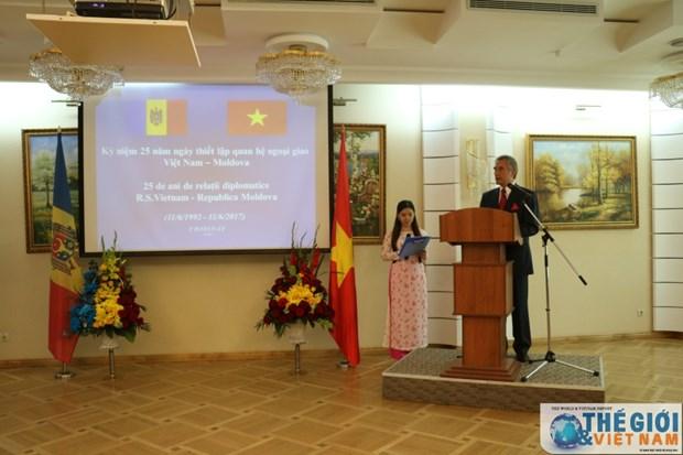 Celebration des 25 ans de relations diplomatiques entre le Vietnam et la Moldavie hinh anh 1