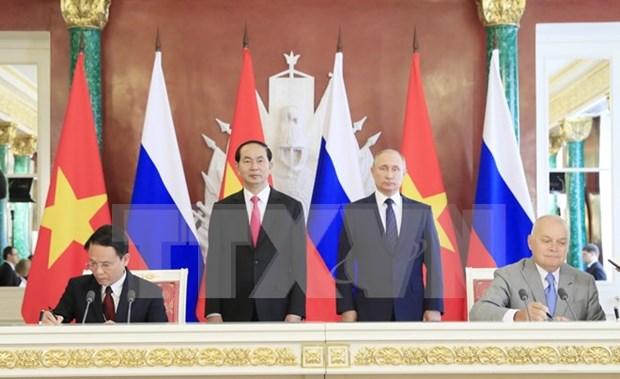 Vietnam-Russie : VNA et Sputnik signent un accord d'echange des informations hinh anh 1