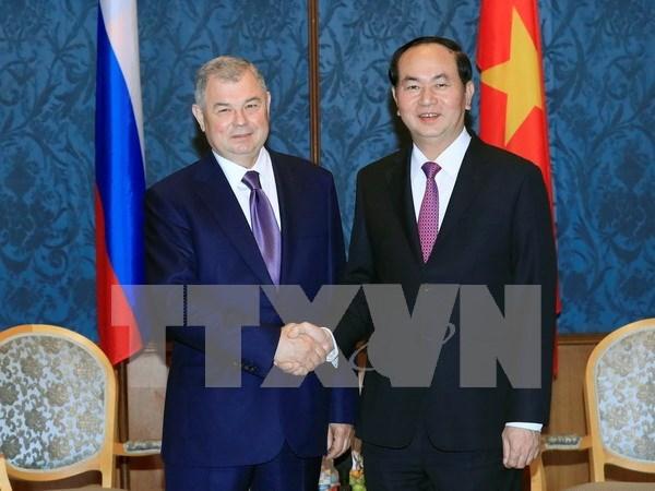 Le president Tran Dai Quang en visite a Saint-Petersbourg hinh anh 1