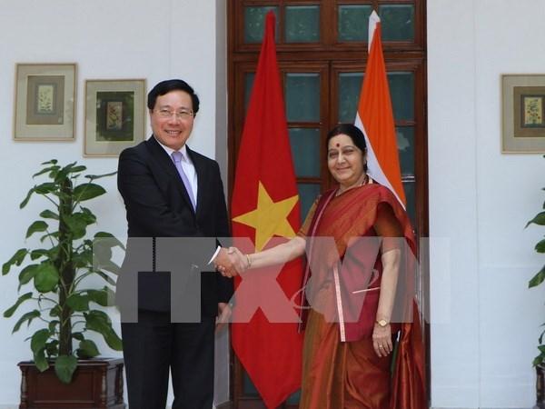 Le vice-Premier ministre Pham Binh Minh en visite officielle en Inde hinh anh 1