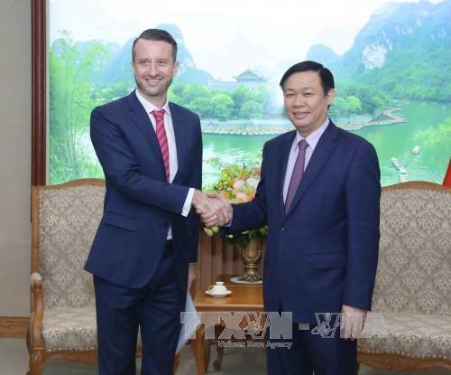 Le vice-PM Vuong Dinh Hue rencontre des diplomates etrangers hinh anh 2